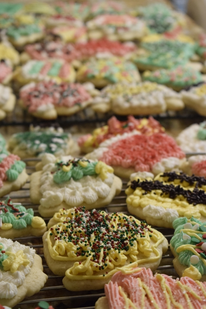 Frosted Sugar Cookies for Christmas